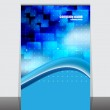 A display with stand banner template design. Vector illustration — Stock Vector