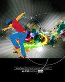 Skateboarder — Stock Vector