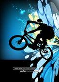 Vector of BMX cyclist — Stock Vector