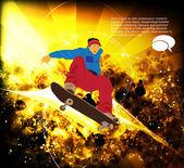 скейтбордист — Cтоковый вектор