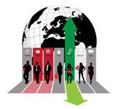 Obchodní ilustrace — Stock vektor