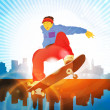 Stock Vector: Skateboarder
