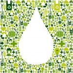 Drop symbol with eco friendly icon — Stock Vector