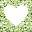 Green environmnet love icon set background — Stock Vector #10082160