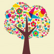 Royalty-Free Stock Vector Image: Spring time tree background