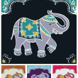 Festive typical indian elephant — Stock Vector #10490780