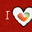 I love sushi banner background — Stock Vector #10491403