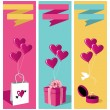Lovers day banner set — Stock Vector