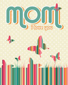 Happy Mothers Day background — Vettoriale Stock