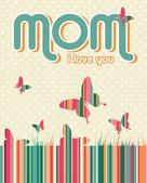 Sfondo giorno felice madri — Vettoriale Stock