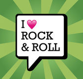 I love Rock and Roll background illustration — Stock Vector