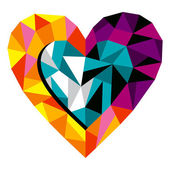 Serce miłość origami — Wektor stockowy
