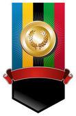 Olympic games golden medal banner — Stock Vector