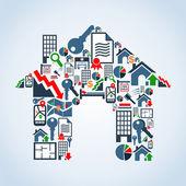 Vlastní dům vlastností služba — Stock vektor