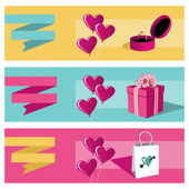 Happy day greeting card sale set — Stock Vector