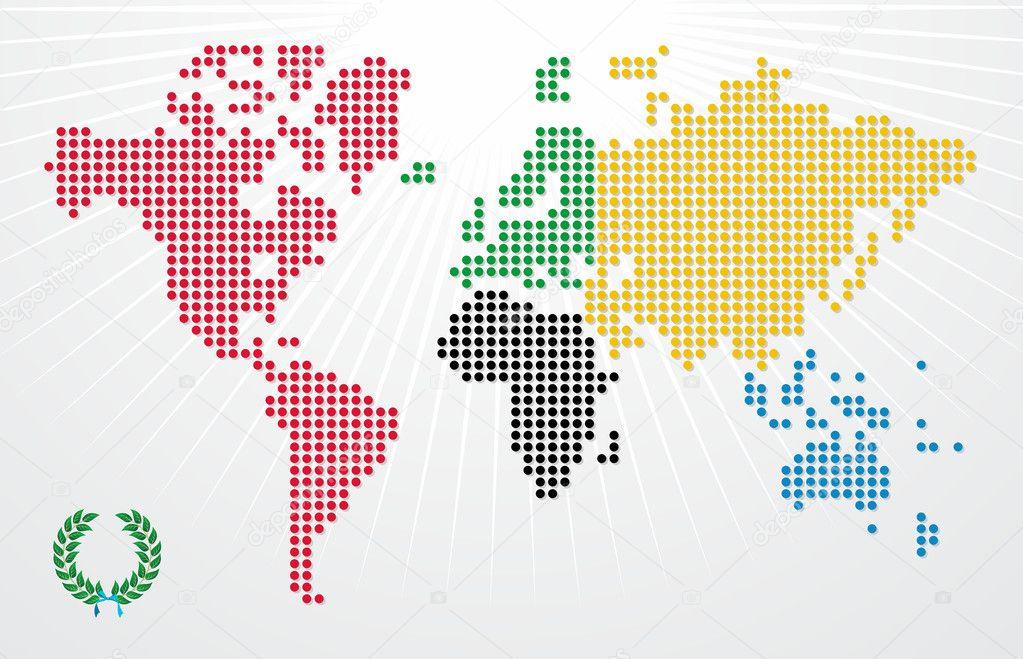 奥运游戏世界地图图 — 图库矢量图像08 cienpies