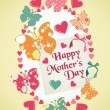 Happy Mothers Day illustration — Stock Vector