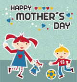 Happy Mothers Day celebration — Stock Vector