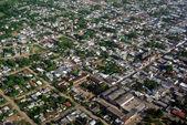 Вид с воздуха жилой район — Стоковое фото