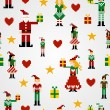 Seamless Christmas pattern background — Stock Vector #7995626