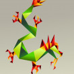 2012 China origami dragon year — Stock Vector #7995678