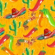 Mexican icons pattern — Image vectorielle