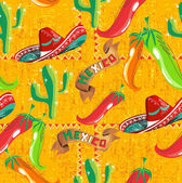 Mexican icons pattern — Vecteur