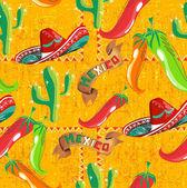 Padrão de ícones mexicano — Vetorial Stock