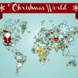 Christmas globe map concept — Vector de stock