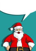 Santa greeting card with blank social bubble — Stock Vector