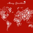 Royalty-Free Stock Vector Image: Christmas globe map concept