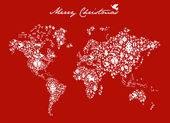 Christmas globe map concept — Vettoriale Stock