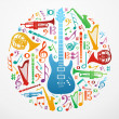 Royalty-Free Stock Vektorgrafik: Love for music concept illustration background