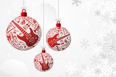 Music Christmas card — Stock Vector
