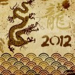 Stock Photo: Chindragon year vintage background
