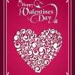 Happy Valentines day vintage heart background — Stock Vector