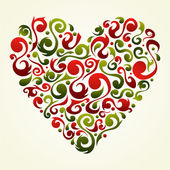 Fondo de corazón San Valentín amor vendimia — Vector de stock