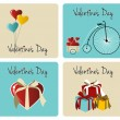 Royalty-Free Stock Vektorfiler: Valentines day greeting card set