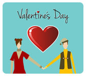 Carte de voeux happy valentines day — Vecteur