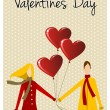 Royalty-Free Stock Vektorov obrzek: Happy Valentines day greeting card