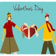 Royalty-Free Stock Vector Image: Happy Valentines day greeting card
