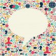 Постер, плакат: Social media talk bubble texture
