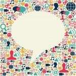 Social media talk bubble texture — Stock Vector