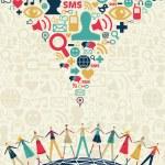 Постер, плакат: Social media concept