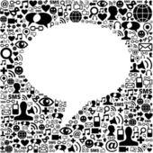 Social media talk bubble isolated — Stock Vector