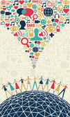 Social media concept — Cтоковый вектор