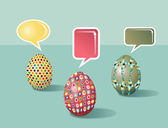 Talking Social media Easter eggs — Stock Vector