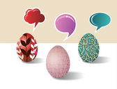 Social media Easter egg set — Stock Vector