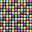 Mobile phone app icons pattern background — Vector de stock