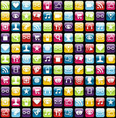 Mobile phone app icons pattern background — Stock Vector